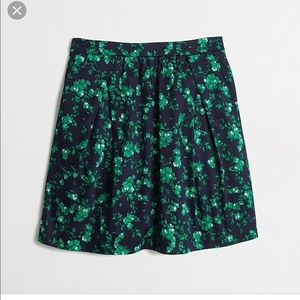NWT J. Crew Factory Pocket Skirt In Green Floral